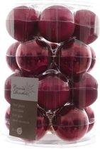 Glas Kerstballen (6cm) Box 20 Stuks Framboos