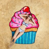 CupCake strandlaken – Beach Blanket CupCake -  Big Mouth badlaken -  ø 1,5 meter