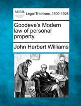 Goodeve's Modern Law of Personal Property.