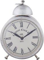 Clayre & Eef Klokijzer glas zilver 11x8x15 cm / 1xAA