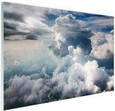 Bewolkt Glas 180x120 cm - Foto print op Glas (Plexiglas wanddecoratie) XXL / Groot formaat!