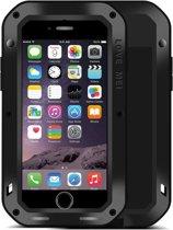 LOVE MEI voor de iPhone 7 Professional en krachtige stofdicht Shockproof anti-slip metaal beschermende Case(Black)
