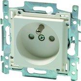 NIKO Original White inbouw stopcontact - penaarde - enkelvoudig