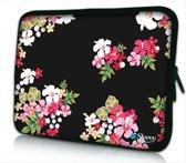 Sleevy 14 laptophoes gekleurde bloemen - laptop sleeve