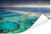 Groot Barrièrerif en de Whitsunday-eilanden Poster 180x120 cm - Foto print op Poster (wanddecoratie woonkamer / slaapkamer) XXL / Groot formaat!