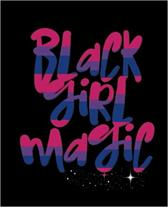 Black Girl Magic: Bisexual Flag Colors Bi Pride LGBT Gay Pride Graffiti Word Art Sexy African Queen Africa 7.5 x 9.25 Wide Ruled 200 Pag