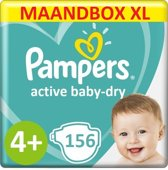 Pampers Active Baby Dry Maat 4+ – 156 Luiers