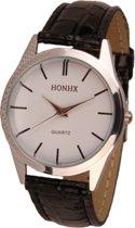 Hidzo Horloge Honhx ø 37 mm - Zwart - Kunstleer