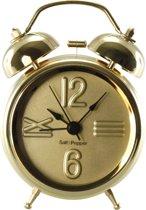 S&P ZONE klok wekkerfunctie 9cm (goud)