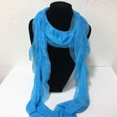 Fashionidea - Mooie Blauwe zijde zachte glimmende sjaal