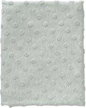 Cottonbaby Ledikantdekentje - Dot melee oudgroen - 120x150 cm