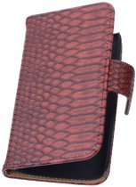 Snake Bookstyle Hoes voor Sony Xperia E3 D2203 Rood