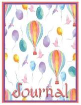 Balloon Fiesta Oversized 8.5x11, 150 Page Lined Blank Journal Notebook