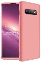 Teleplus Samsung Galaxy S10 Plus 360 Full Protection Hard Cover Case Rose Gold