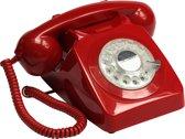 GPO 746ROTARYRED Telefoon met draaischijf klassiek jaren '70 ontwerp