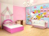 Fotobehang Sanrio, Hello Kitty | Blauw | 208x146cm