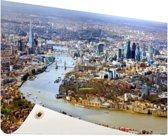 Luchtfoto van Londen Tuinposter 60x40 cm - klein - Tuindoek / Buitencanvas / Schilderijen voor buiten (tuin decoratie)