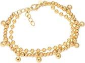 iXXXi Armband Dazzling Circles Goudkleurig - maat 17-20