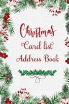 Christmas Card List Address Book: Record Book and Tracker For Holiday Cards You Send and Receive with alphabet tabs