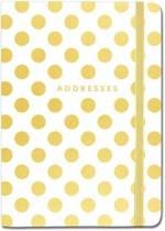 Adresboekje Peter Pauper Gold Dots