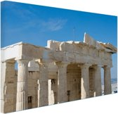 FotoCadeau.nl - Akropolis Athene Canvas 60x40 cm - Foto print op Canvas schilderij (Wanddecoratie)