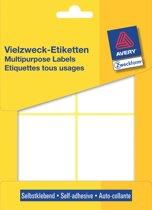 12x Avery Witte etiketten 80x54mm (bxh), 112 stuks