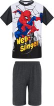 Spider Man Pyjama met korte mouw - grijs - Maat 140