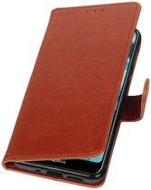 Bruin Pull-Up Booktype Hoesje voor Nokia 7.1