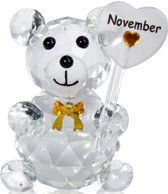 Kristalglas beer geboorte maand november