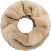 Faux fur colsjaal Beige Tube shawl col sjaal Nep bont