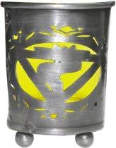 Navel Chakra Votive theelicht houder Geel Glas