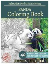 Panda Coloring Book for Adults Relaxation Meditation Blessing