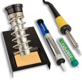 Soldeerset 4-Delig - Soldeerstation Standaard - Soldeerbout Met Houder & Desoldeerpomp Set - 30W