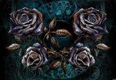 Fotobehang Alchemy Roses Tattoo | PANORAMIC - 250cm x 104cm | 130g/m2 Vlies