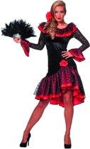 Spaanse danseres zwart met rood dame Maat 36