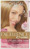 L`Oréal Excellence Creme 7.3 Hazelnoot Blond - Haarverf