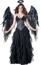 Zwarte engel kostuum voor vrouwen - Premium  - Verkleedkleding - Medium