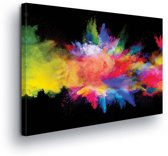 Colorful Explosion Canvas Print 100cm x 75cm