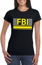 Politie FBI logo t-shirt zwart voor dames XS