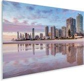 De stedelijke horizon van de Australische Gold Coast in Queensland Plexiglas 180x120 cm - Foto print op Glas (Plexiglas wanddecoratie) XXL / Groot formaat!