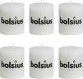 Bolsius Stompkaars 80/68 rustiek Wit (per 6 stuks)