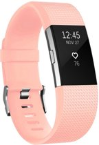 YONO Siliconen bandje - Fitbit Charge 2 - Lichtroze - Small
