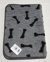 vetbed Bench grijs bot met bies 109x69