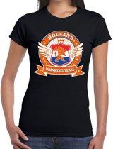 Zwart Holland drinking team t-shirt dames S