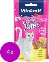 Vitakraft Cat Yums Kaas - Kat - Snack - 4 x 40 gr