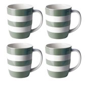 Cornishware Mugs Sage Green Mugs 12oz/34cl (set van 4)