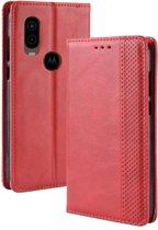 Motorola One Vision Hoesje - Book Case - Rood