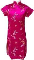 Chinese jurk - Roze - Maat 104/110 (6) - Verkleed jurk - Prinsessen jurk