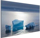 Drijvend ijs Noordpool Aluminium 180x120 cm - Foto print op Aluminium (metaal wanddecoratie) XXL / Groot formaat!