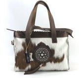 Koeienhuid middel shopper met lange hengsel Van Fiel/Lina Leather